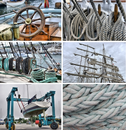 set of images of sailing and navigation photo