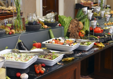 food buffet: Smorgasbord - food choice in a restaurant