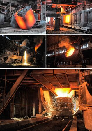 heated: set of images of the metallurgical industry