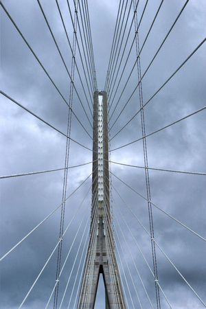 the view from below: bridge abstract view from below Stock Photo