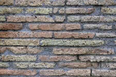 tiled wall: ancient Roman brick wall as background Stock Photo