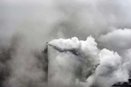 heavy industry: Smoke of heavy industry is highlighted
