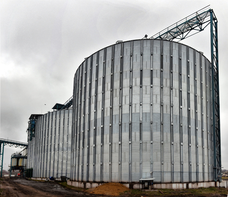stockroom: Agricultural Silo - Building Exterior, Storage and drying of grains, wheat, corn, soy, sunflower