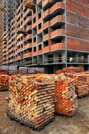 warehouse building: Warehouse bricks on building background Stock Photo