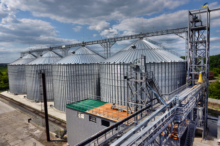 Agricultural Silo - Building Exterior, Storage and drying of grains, wheat, corn, soy, sunflower