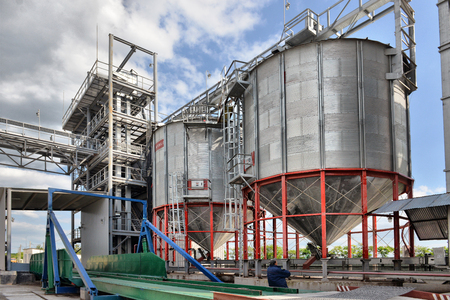 Building Exterior, Storage and drying of grains, wheat, corn, soy, sunflower