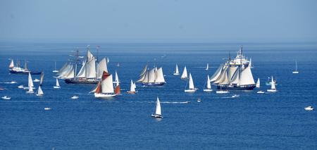 parada wysokich statków na północy Francji. Brest