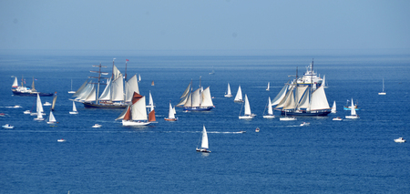 parade of tall ships in the north of France. Brest