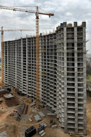 storey: construction of multi-storey residential building