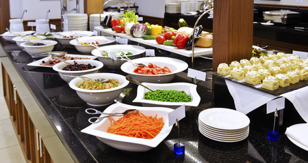 Smorgasbord - food choice in a restaurant. vegetables Stock Photo