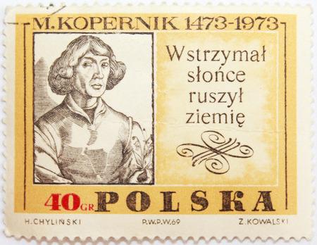 Nicolaus Copernicus. Postage stamp. Poland