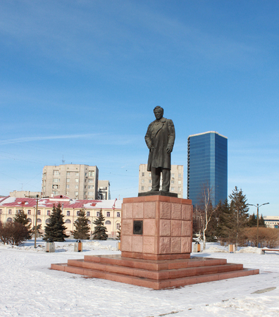 petrovich: Monument Astafevu in Krasnoyarsk Editorial