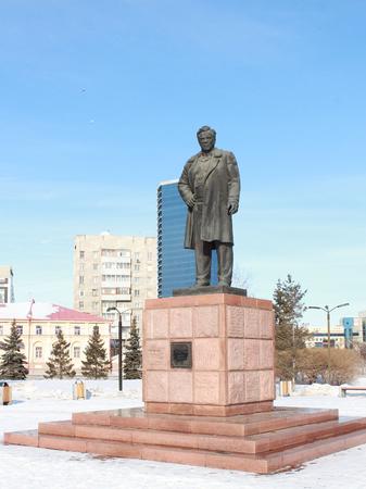 petrovich: Monument Astafevu. Krasnoyarsk