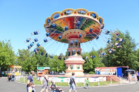gorky: Large roundabout in Gorky Park. Krasnoyarsk Editorial