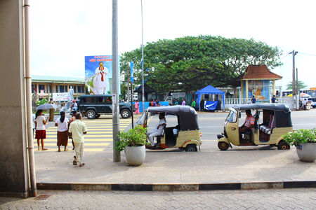 galle: Pedestrian crossing, Galle, Sri Lanka