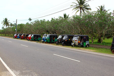 tuktuk: Parking tuk-tuk Editorial