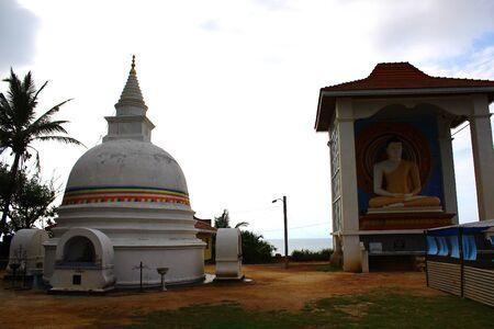 buddhist stupa: Buddhist Stupa and Buddha statue