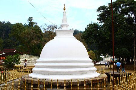 buddhist stupa: Buddhist Stupa, Temple of the tooth Stock Photo