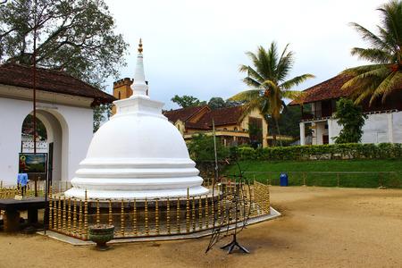 buddhist stupa: Buddhist Stupa, Temple of tooth relic, Kandy Stock Photo