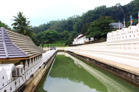 moat: The moat around the Royal Palace. Kandy Editorial