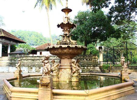 kandy: Bronze fountain in Kandy Stock Photo