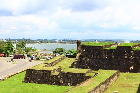 galle: The walls of the Fort in Galle Stock Photo