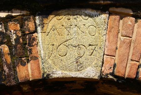 anno: ANNO 1697. The Galle Fort Stock Photo