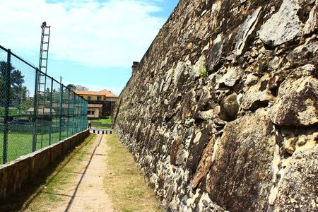 galle: Wall Galle Fort Stock Photo