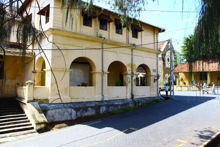 galle: Historic building in Galle Fort Editorial