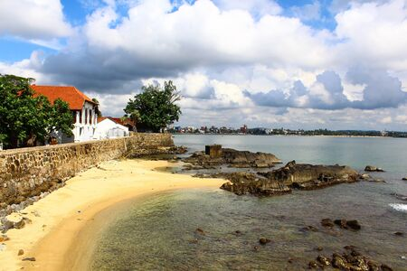 galle: Galle Fort on the shores of the Indian ocean