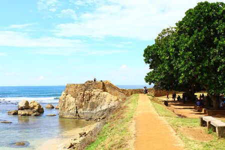 galle: Observation deck, Galle Fort Stock Photo