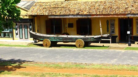 galle: Boat on wheels, Galle, Sri Lanka Stock Photo