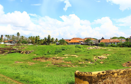 galle: The inner area of Galle Fort Stock Photo