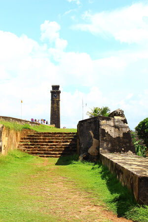 galle: The stairs to the clock tower, Galle Fort