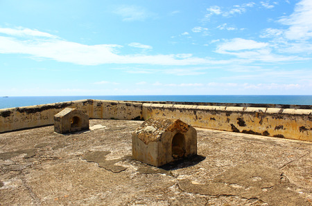 galle: The roof of the prison. the Galle Fort
