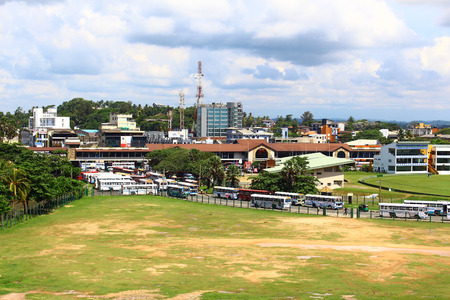 galle: The bus station in Galle Editorial