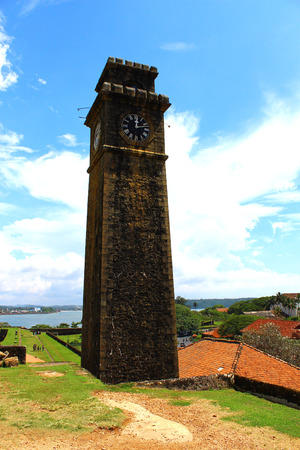 galle: The clock tower, Galle Fort, Sri Lanka Editorial