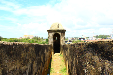 galle: The entrance to the observation tower, Galle Fort