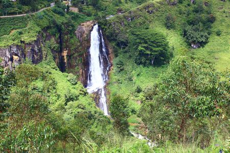 ceylon: Waterfall Devon, Ceylon Stock Photo