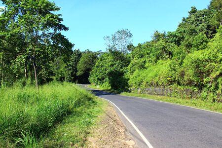 kandy: Road near Kandy, Sri Lanka Stock Photo