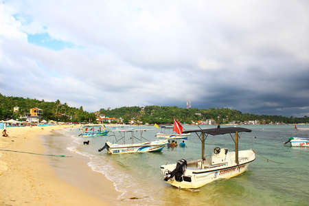 motor boats: Motor boats on the beach of Unawatuna, Sri Lanka