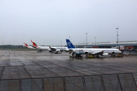 colombo: Aircraft at the airport in Colombo Editorial