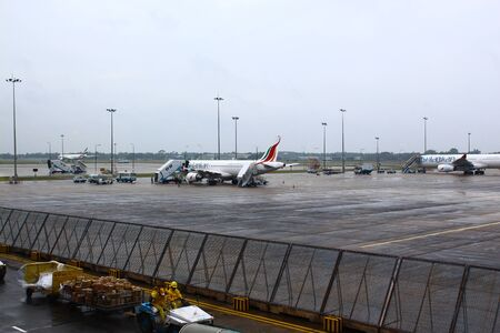 colombo: Preparation of aircraft, airport Colombo