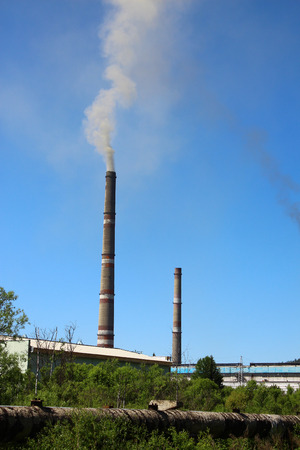 emissions: Emissions from the chimneys of thermal station
