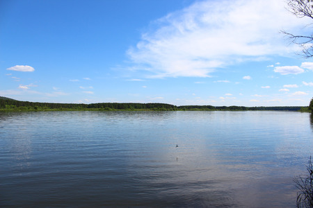 the taiga: Landscape of the River Caen and expanses of taiga