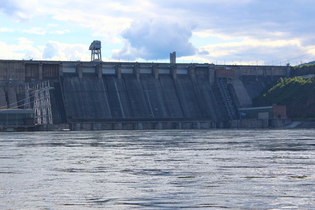 hydroelectric power station: The dam of the Krasnoyarsk hydroelectric power station