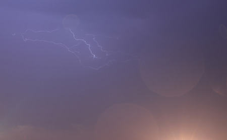 supernatural power: Lightning in the sky