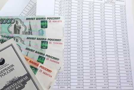 repayment: Loan repayment schedule and money Stock Photo