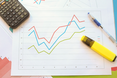 recession: Recession and recovery schedule Stock Photo
