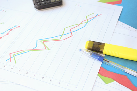 regression: Bad data on the graph Stock Photo